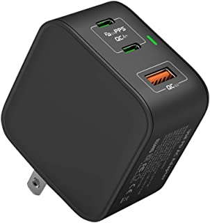 PD 充電器 65W USB-C 急速充電器 3ポート PD3.0 QC3.0対応 折りたたみ式 ACアダプター【新技術GaNを採用】超小型 軽量 iPhone12/iPhone12 Pro/MacBook/ノートパソコン/Switchなど対応...
