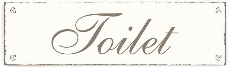 SCHILD Dekoschild « TOILET » Shabby Vintage houten bord deurplaat decoratie toilet wc huishouden gastro