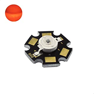 1W High Power LED Chip - Red - DC2.4V Input - 350mA Output - Star - Component - Ultra Bright - Powerchip Module - Electronic Part - Flood Light Reflector Street Energy Saving Lamp