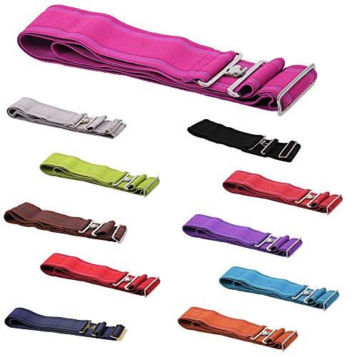 netproshop Deckengurt für Pferdedecken Elastisch und Verstellbar, Farbe:Pink
