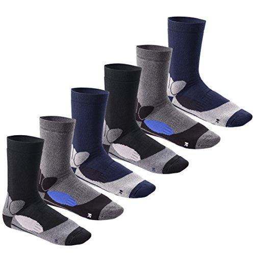 Footstar Damen & Herren Wintersocken (6 Paar), Warme Vollfrottee Socken mit Thermo Effekt - Thermo Pro 43-46