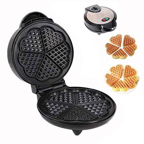 Wafelijzer Machine Elektrische roestvrijstalen mal Antiaanbaklaag Recepten Diepe kookplaten Instelbare temperatuurregeling