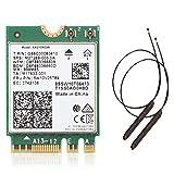 Kamenda WI-FI 6e de Banda Dual AX210 5.2 2400Mbps M.2 Tarjeta InaláMbrica AX210NGW 2.4Ghz / 5G 802.11Ax WiFi 6 con Antena
