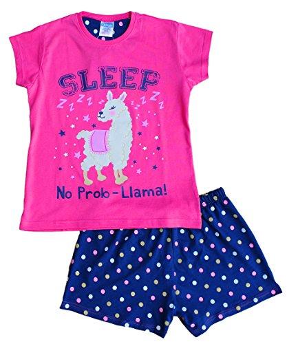 Pijama corto niña Sleep No Prob-Llama niña rosa Pj 9-16 años