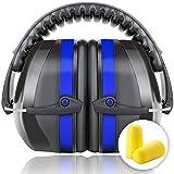 Fnova Protectores auditivos 34dB más altas Muffs NRR,Oído defensiva Banda de protección /Disparos Hearing Protector orejeras adapta a adultos a los niños (Azul)