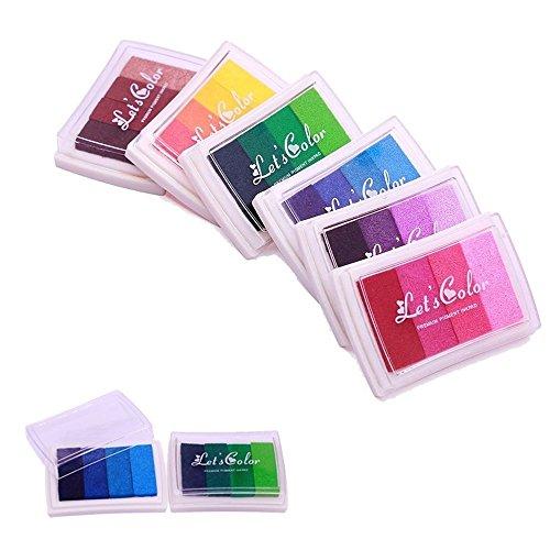 Stempelkissen Set für Papier Handwerk,Bunt 24 Farben