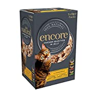 Encore 100% Natural Wet Cat Food, Multipack Chicken in Jelly, 5 x 50 g Pouches