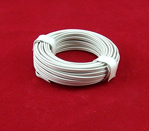 5Meter (EUR 0,46EUR/M). Kabel 2-adrig weiß, bis 12V. Für Puppenstube, Krippe