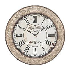 Deco 79 53818 Wood Wall Clock, 24