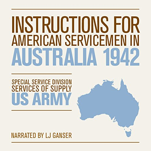 Instructions for American Servicemen in Australia 1942 cover art