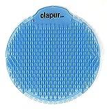 clapur Urinalsieb schräg angeordneter patentierter Urin-Spritzschutz Duft Baumwollblüte Urinal-Einsatz für jedes Urinal und Pissoir, blau, rund 1 Stk.