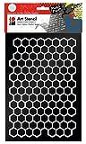 Marabu 028500001–Mode Stencil DIN A4 Nid d'abeille