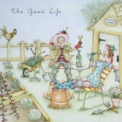 Tarjeta de felicitación en blanco de The Good Life de la gama Ladies Who Love Life