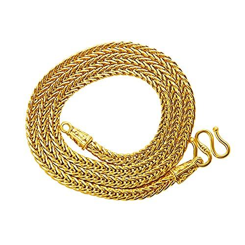 Collar clásico cadena hombres joyería oro amarillo 18k clavícula hueso Accesorios regalo