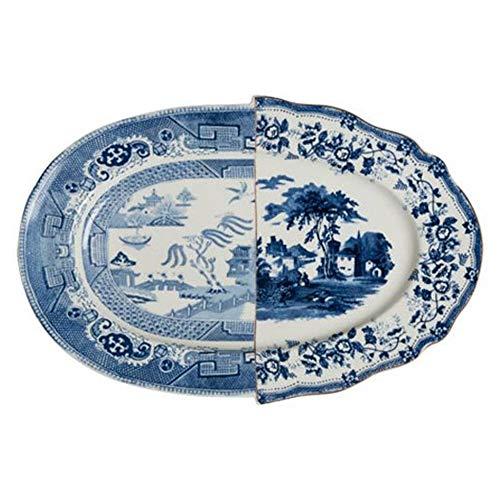 SELETTI Vassoio in Porcellana Hybrid-Diomira Cm.37X24,8