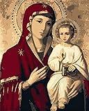 N\A Pinturas con Numeros para Adultos Pintar Numeros Virgen María Acrilico Pintura Kit DIY For Mayores Avanzada Niños Joven