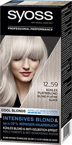 SYOSS Cool Blonds Stufe 3 12_59 Kühles Platinblond, Aufhellung um bis zu 4 Stufen, 3er Pack (3 x 115 ml)