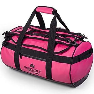 北欧ブランド「The Friendly Swede」ボストンバッグ ダッフルバッグ 耐水 スポーツバッグ 旅行バッグ 旅行カバン メンズ レディース ユニセックス ジムバッグ 3way 大容量 ドラムバッグ (ピンク 30L)