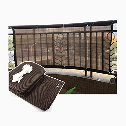 QIANGDA - Paño de protección solar, protección contra rayos UV, con ojales para balcón, patio, ventana, pérgola o cenador, tamaño personalizado (color: marrón, tamaño: 3 x 4 m)