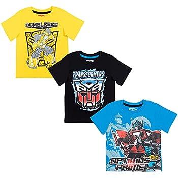 Transformers Bumblebee Optimus Prime Big Boys 3 Pack T-Shirt Yellow/Blue/Black 7-8