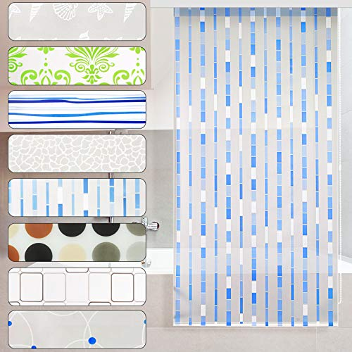 casa pura Modernes Duschrollo Mosaic mit Kassette | schnelltrocknendes Rollo für Dusche und Badewanne | bis zu 240 cm Länge ausziehbar | zahlreiche Breiten wählbar (Breite 80 cm)