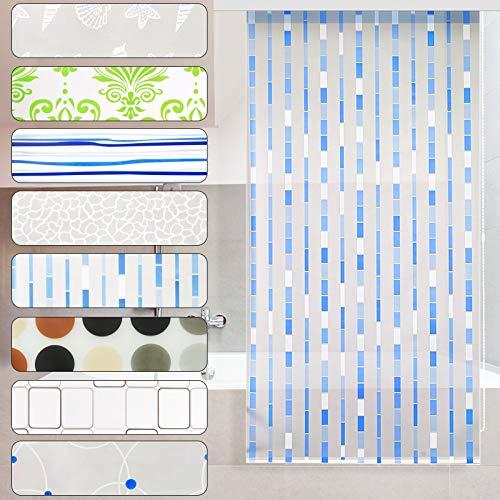casa pura Modernes Duschrollo Mosaic mit Kassette | schnelltrocknendes Rollo für Dusche und Badewanne | bis zu 240 cm Länge ausziehbar | zahlreiche Breiten wählbar (Breite 160 cm)