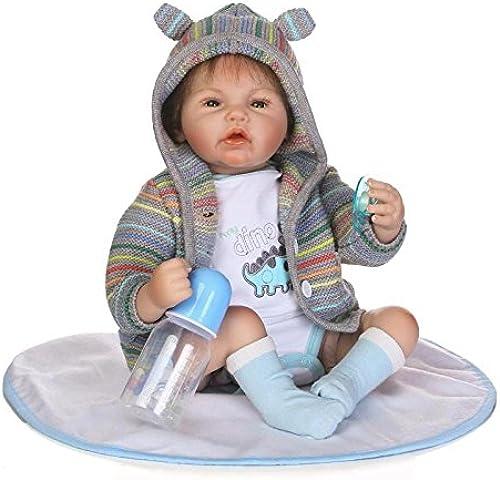 QXMEI Realistische Reborn Baby Doll mädchen Silikon 55cm