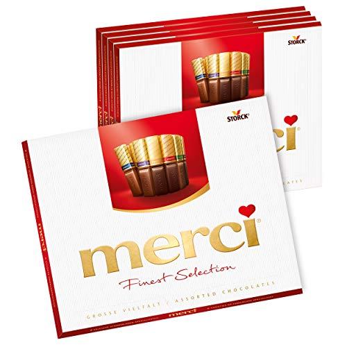 merci Finest Selection Große Vielfalt (5 x 250g) / Schokoladen-Spezialitäten