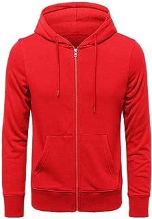 Mens Hoodies Zip hoodie cardigan cotton terry sweater Long Sleeve Comfortable Warm-up Top