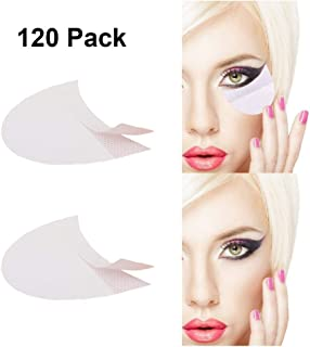 Eyeshadow Stencils Eyelash Extensions Eye Makeup Template Stickers Kits Professional Eye Shadow Shields Fast Eyeliner Guide Lint Free Non-Woven Lip Makeup Pad Patches Cosmetic Tools 120 Pack