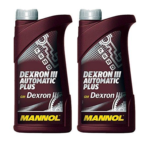MANNOL 2 x 1L ATF Dexron III Automatic Plus/Automatikgetriebe- Servo- Öl Rot
