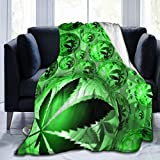 60'X50' Comfort Throw Blankets Ultra Soft and Fluffy Blankets Throw Blankets for Couch and Living Room Fall Winter and Spring - Pot Weed Leaf Blankets