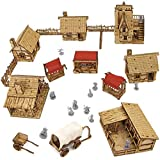 TowerRex The Village D&D Miniatures Wooden Laser Cut Fantasy Terrain 28mm Scale for Dungeons & Dragons Pathfinder Other Tabletop RPG…