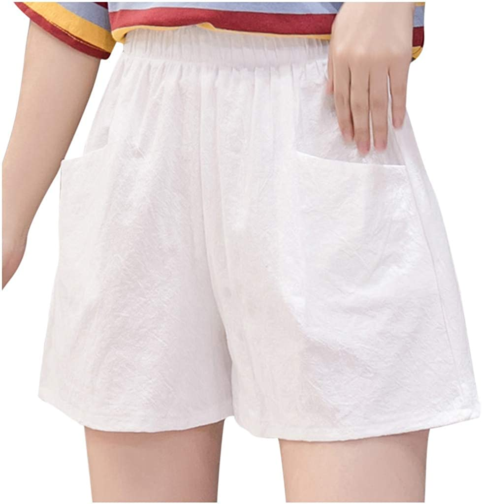 FengGa Women's Running Shorts Summer Casual Elastic Waist Quick Dry Active Workout Shorts Athletic Yoga Sports Shorts