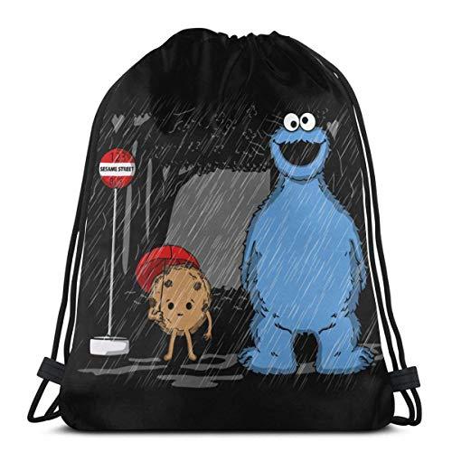 Bolsa con cordón, bolsa de deporte, gimnasio, fiesta, bolsa de regalo, bolsa de regalo, bolsa de almacenamiento con cordón, bolsa de regalo, bolsa de regalo - My Neighbors Cookie Monster