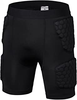 Men's Padded Shorts Training Compression Protective Underwear Hip Butt Pad Short