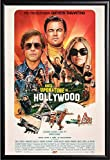 Once Upon a Time in Hollywood Movie Poster, Framed (Black)
