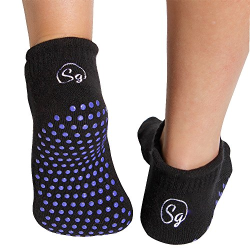 Rutschfest Socken für Krankenhaus Rehabilitation Krankenpflege Home Chemo und Senioren. Luxus Bambus Pantoffel Socken. Verhindern Sie Fälle mit Sicherheitsgreifer Socken (2pack) (Groß EU 41.5 - 46)