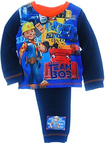 Schlafanzug Baby Kinder Pyjama 86 92 98 104 Bob The Builder Nachtwäsche (12/18M. (80/86))
