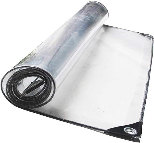 DJSMpb Baches Rideau de climatisation Transparent pour Tente de bache de Prougeection Transparente au Soleil (Taille   4mx6m)