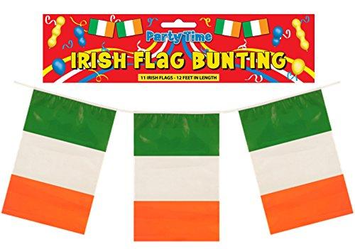 Wimpelkette, Motiv: irische Flagge, Länge 3,6 m