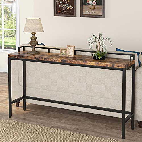 Tribesigns 70.9 inch Extra Long Sofa Table, Narrow Long Console Table Behind Couch, Rustic Entryway Table Industrial Skinny Hallway Table for Living Room