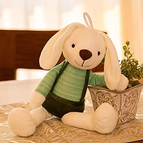 Conejo Peluche Juguete pequeño Conejo Blanco muñeca muñeca Muchacha Muchacha corazón niño Lindo pequeña muñeca,Verde,40cm