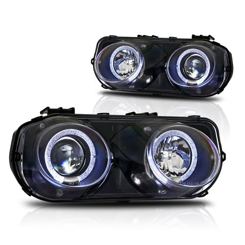 Winjet Compatible with [1994 1995 1996 1997 Acura Integra] LED DRL Halo Projector Headlights