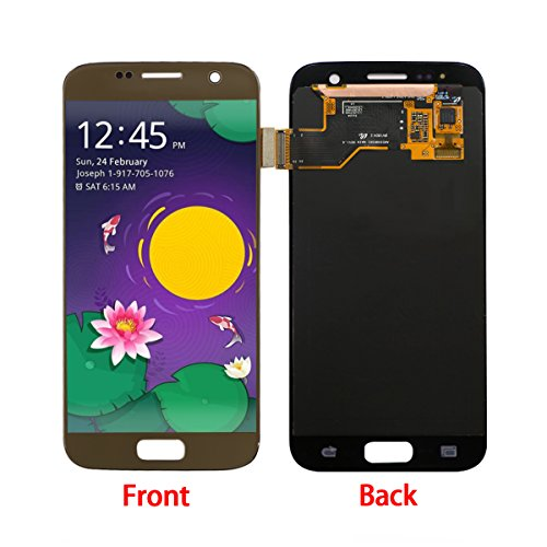 HJSDtech LCD Display Screen Touch Screen Digitizer Assembly Replacement for Samsung Galaxy S7 SM-G930 G930A G930F G930R4 G930P G930T G930V G930W8 (Gold)