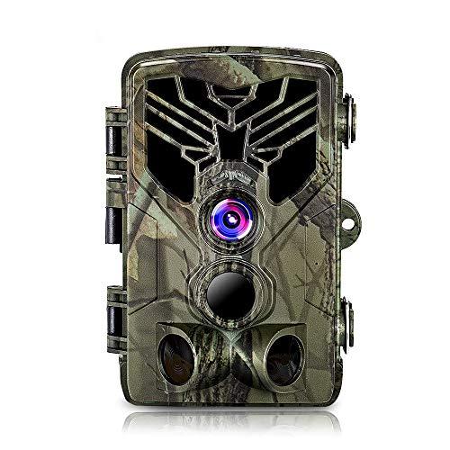 Trappola fotografica per videogiochi con WiFi WLAN, trappola fotografica per fotocamera da caccia APP 20MP 1080P con visione notturna del rilevatore di movimento, visione notturna a infrarossi 65ft /