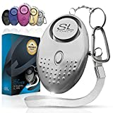 SLFORCE Personal Alarm Siren Song - 130dB Safesound Personal Alarms for Women Keychain with LED Light, Emergency Self Defense for Kids & Elderly. Security Sound Whistle Safety Siren (Silver)