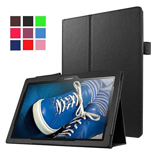 Hannuo para Lenovo A10-30F TB2 X30L X30F Tablet 10.1 Estuche Delicado Soporte de Cuero PU para Cubierta-Negro