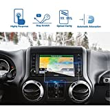 LFOTPP Car Navigation Screen Protector for 2013-2018 Wrangler 6.5 Inch, Tempered Glass 9H Hardness Car Infotainment Stereo Display Center Touchscreen Protective Film