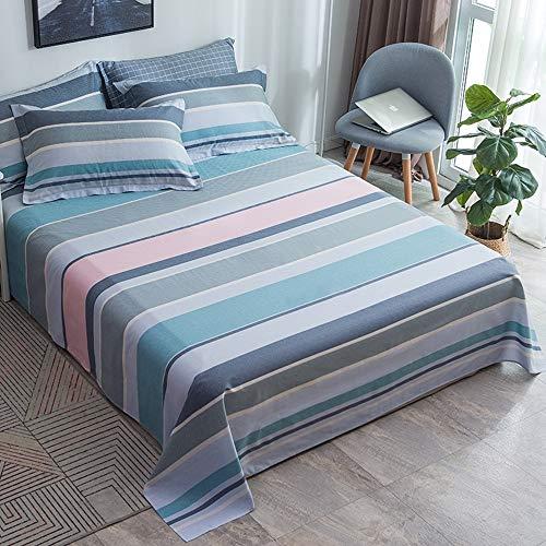 BIANXU beddenlaken, 100% katoen, matrasbeschermer, 1 stuks, zacht beddengoed voor een- of tweepersoonsbedden